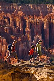 Family Walking and Hiking Tour Vacation